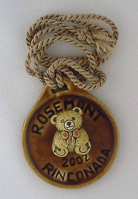 Artesania Rinconada Rosemont 2002 Medallion - photo copyright 2009 CollectiblesRome