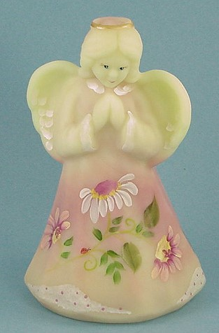 "Fenton Glass ""Daisies"" Burmese Angel - photo copyright 2010 CollectiblesRome"
