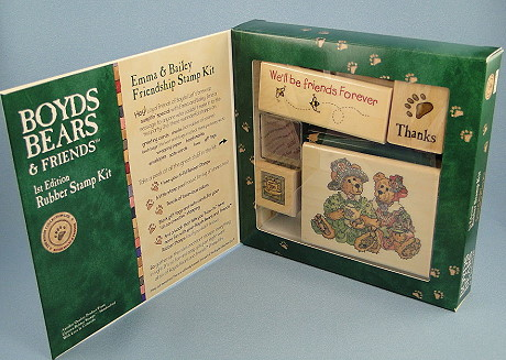 Boyds Bears Rubber Stamp Kit at CollectiblesRome.com
